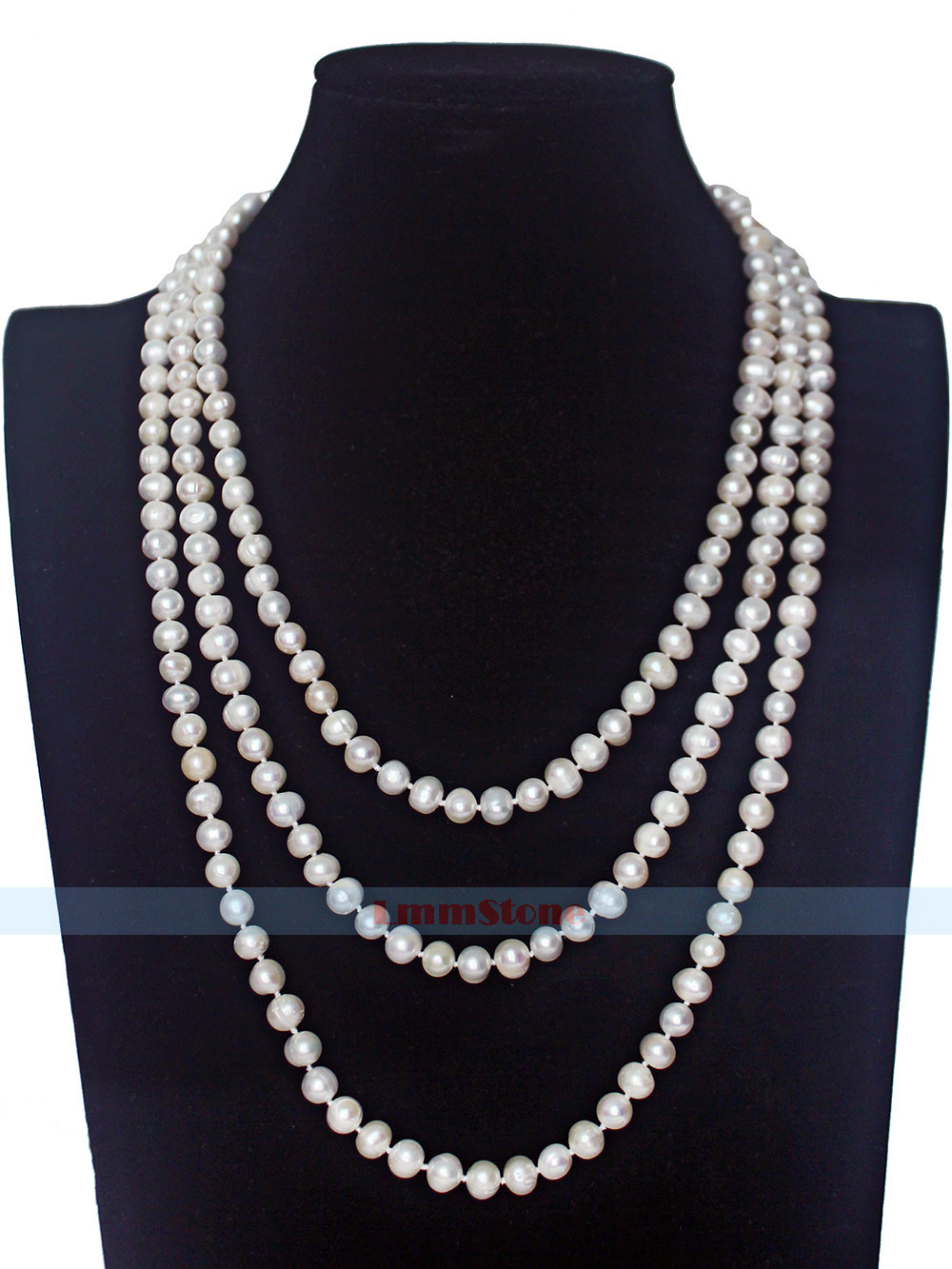 """68/"""" 7-9mm White Cultured Fresh Water Pearl Strand Necklace Jewelry"""
