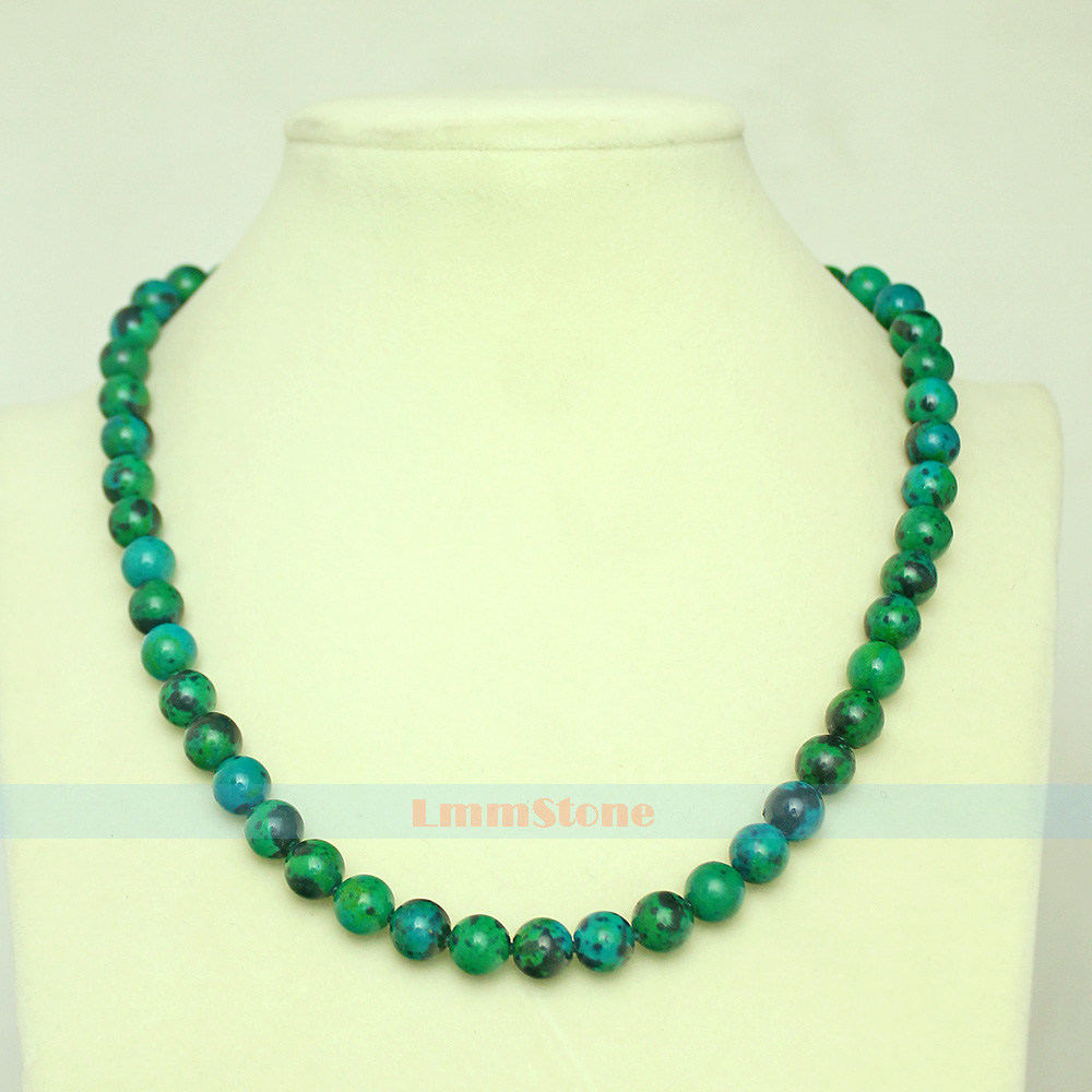 10mm Natural Rainbow Fluorite Knotted Gemstone Beads Necklace 18/'/' AAA